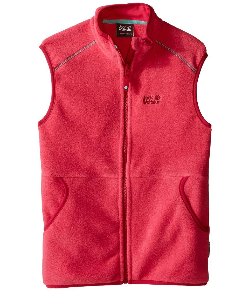 Jack Wolfskin Kids - Hudsonay Vest (Little Kid/Big Kid) (Pink Raspberry) Girl's Vest