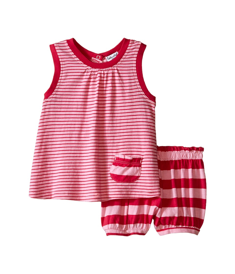 Splendid Littles - Multi Stripe Dress with Bloomer (Infant) (Light Pink) Girl's Dress