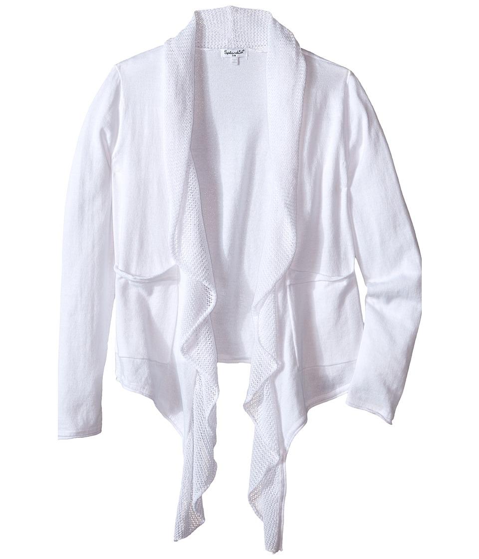 Splendid Littles - Loose Knit Wrap (Big Kids) (White) Girl's Sweater
