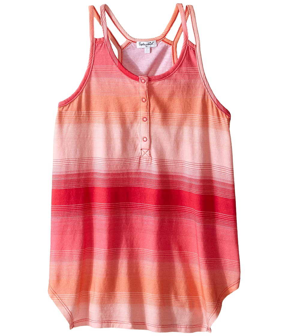 Splendid Littles - Muli Striped Tank Top with Shark Bite Hem (Big Kids) (Stripe) Girl's Sleeveless