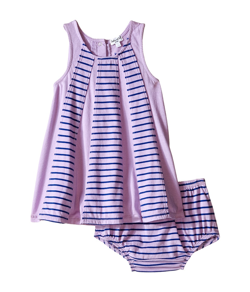 Splendid Littles - Striped Dress with Yarn Dye Overlays (Infant) (Lilac) Girl's Dress