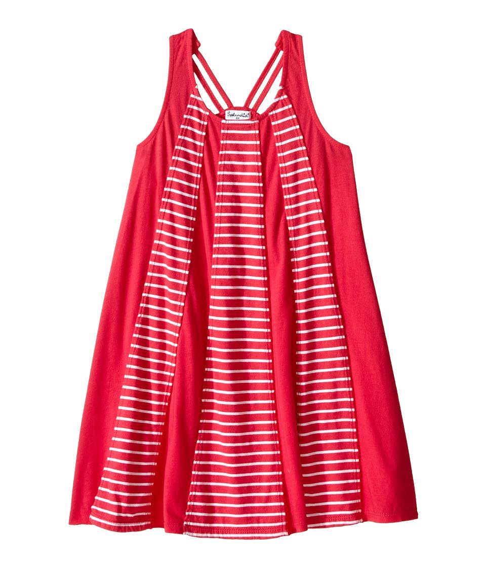 Splendid Littles - Striped Dress with Yarn Dye Overlays (Little Kids) (Dark Pink) Girl's Dress
