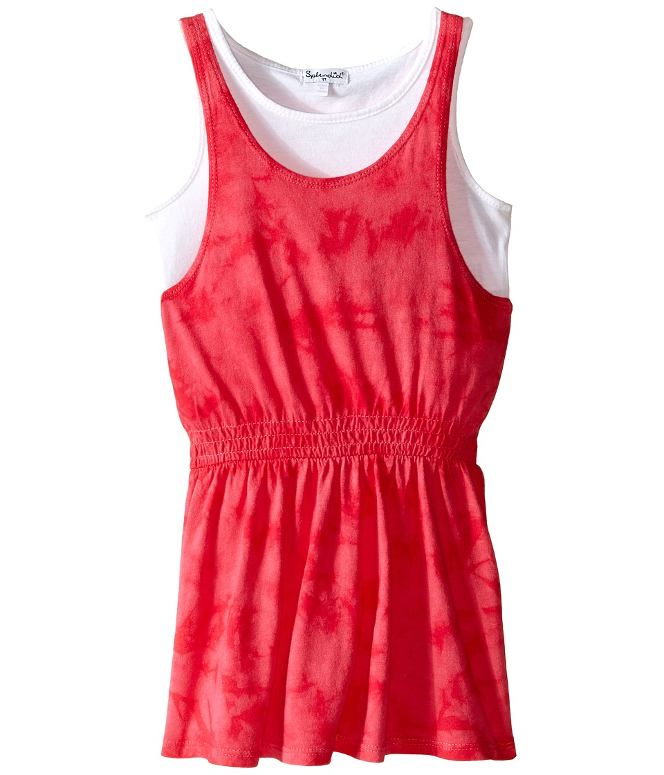 Splendid Littles - Tie-Dye Dress with Tank Top (Toddler) (Dark Pink) Girl's Dress