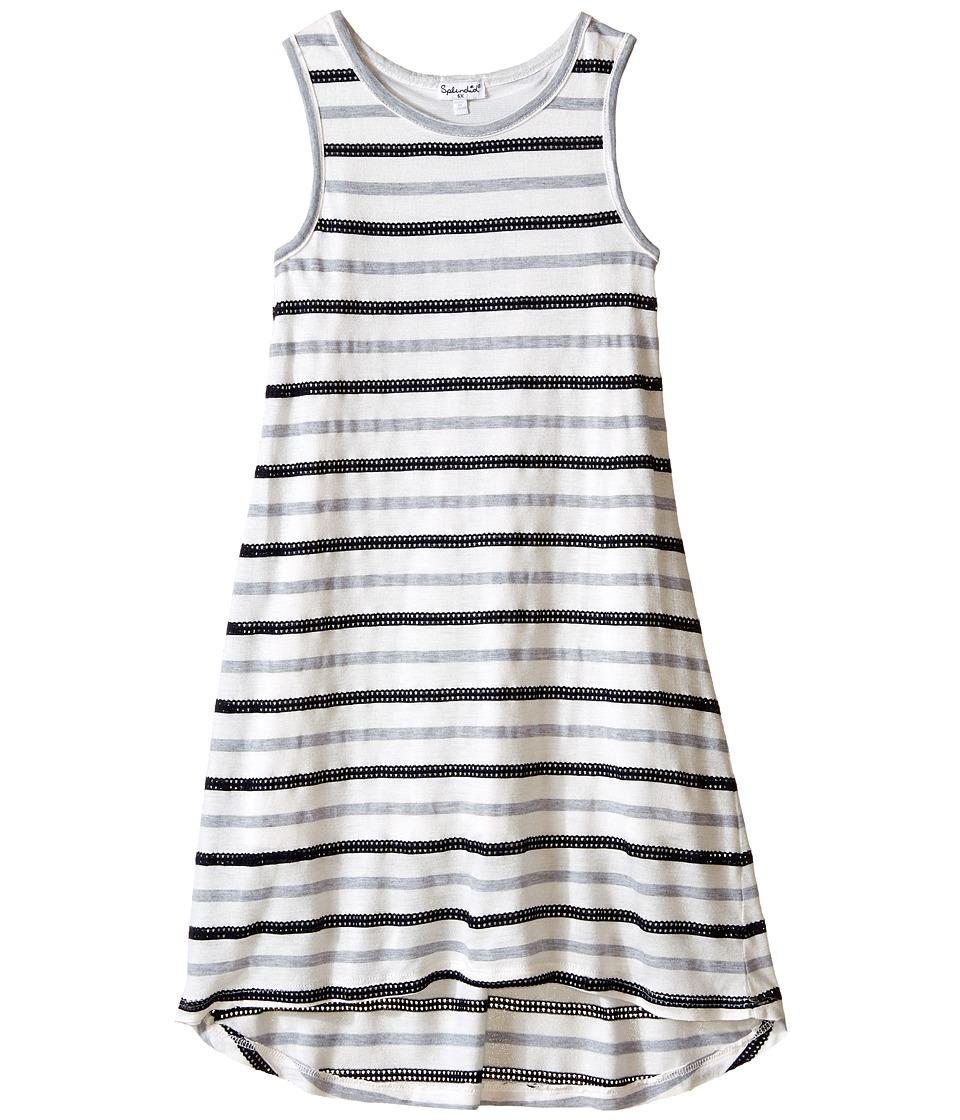 Splendid Littles - Striped Mesh Dress (Little Kids) (Navy) Girl's Dress