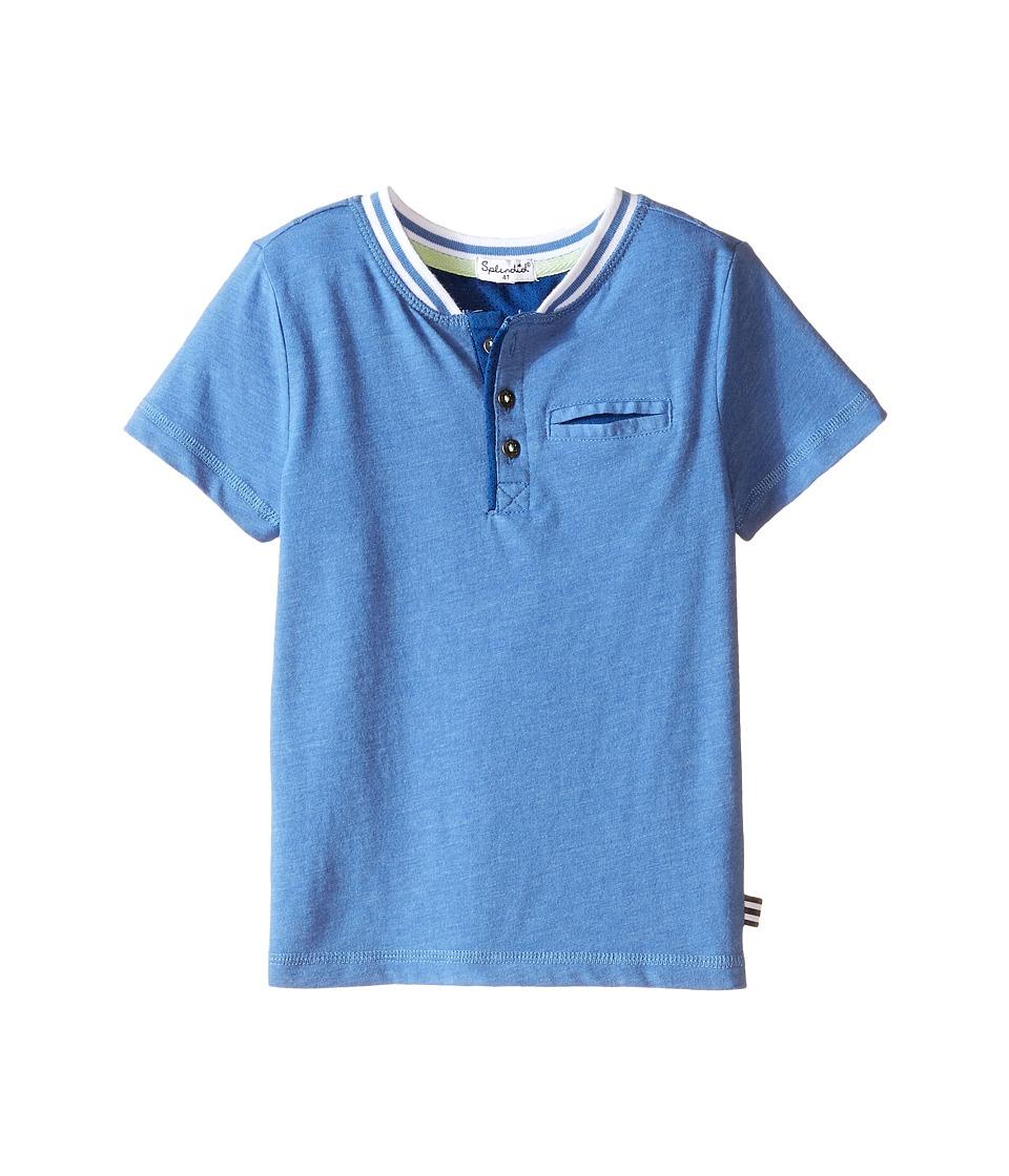 Splendid Littles - Short Sleeve Henley with Pocket (Toddler) (Light Blue) Boy's Clothing