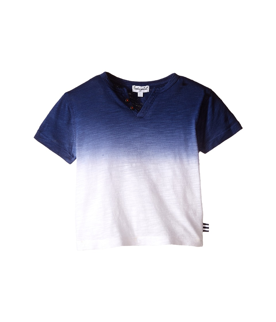 Splendid Littles - Short Sleeve Dip Dye Tee (Toddler) (Navy) Boy's T Shirt
