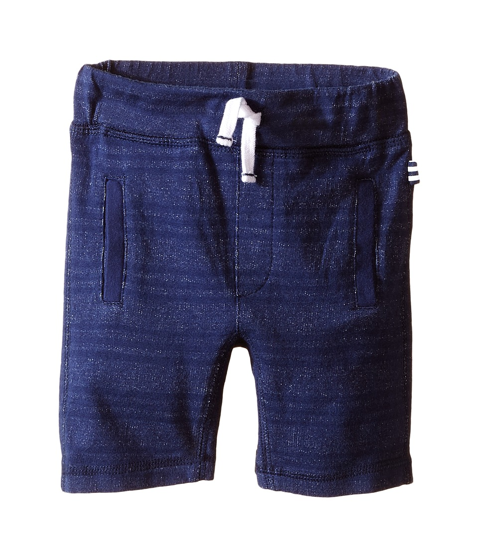 Splendid Littles - Striped Active Terry Shorts (Toddler) (Navy) Boy's Shorts