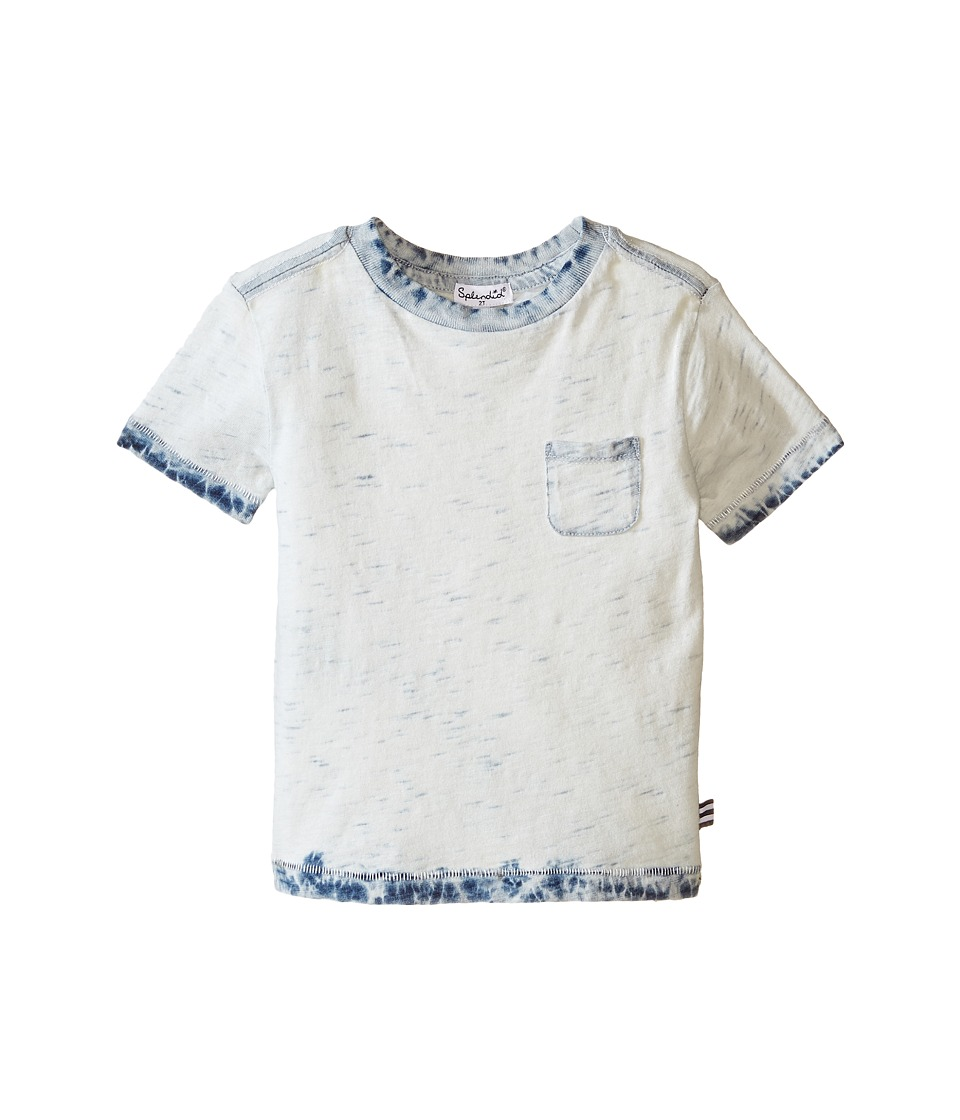 Splendid Littles - Bleached Indigo Tee with Dip Hems (Toddler) (Bleach Denim) Boy's T Shirt