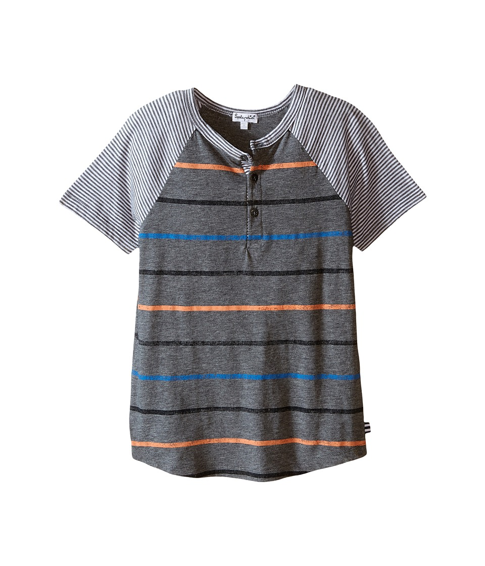 Splendid Littles - Mixed Stripe Short Sleeve Raglan Crew (Little Kids) (Stripe) Boy's Short Sleeve Pullover