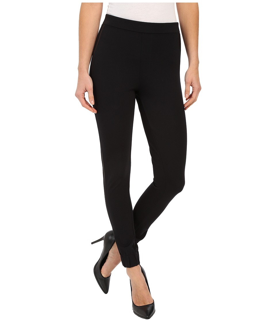 Spanx - Cut Sew Cropped Track Leggings (Very Black) Women's Clothing