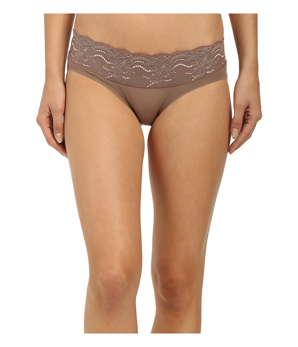 Spanx - Lace Waist Hipster (Mineral Taupe) Women's Underwear plus size,  plus size fashion plus size appare