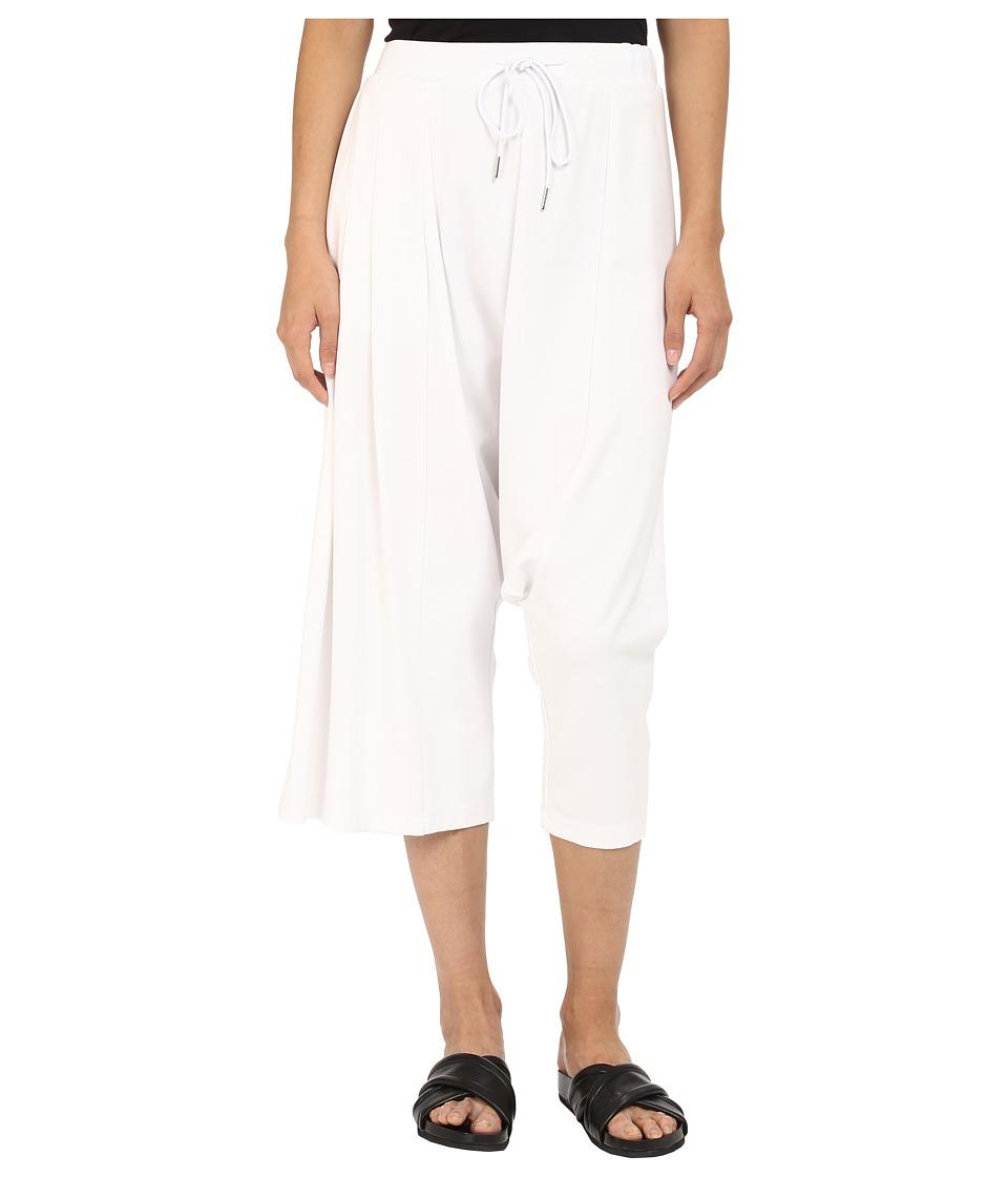 adidas Y-3 by Yohji Yamamoto - W Fluid Pants (White) Women's Casual Pants