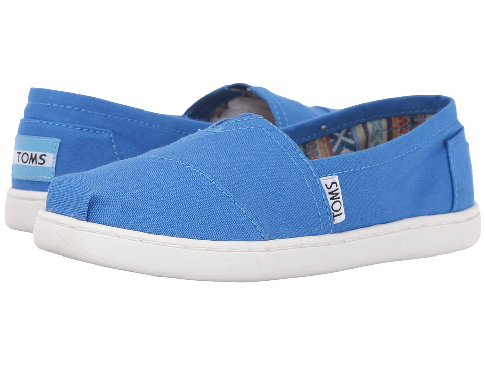 TOMS Kids - Seasonal Classics (Little Kid/Big Kid) (Turkish Blue Canvas) Kids Shoes