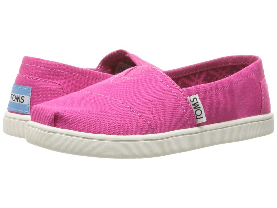 TOMS Kids - Seasonal Classics (Little Kid/Big Kid) (Fuchsia Purple Canvas) Girls Shoes