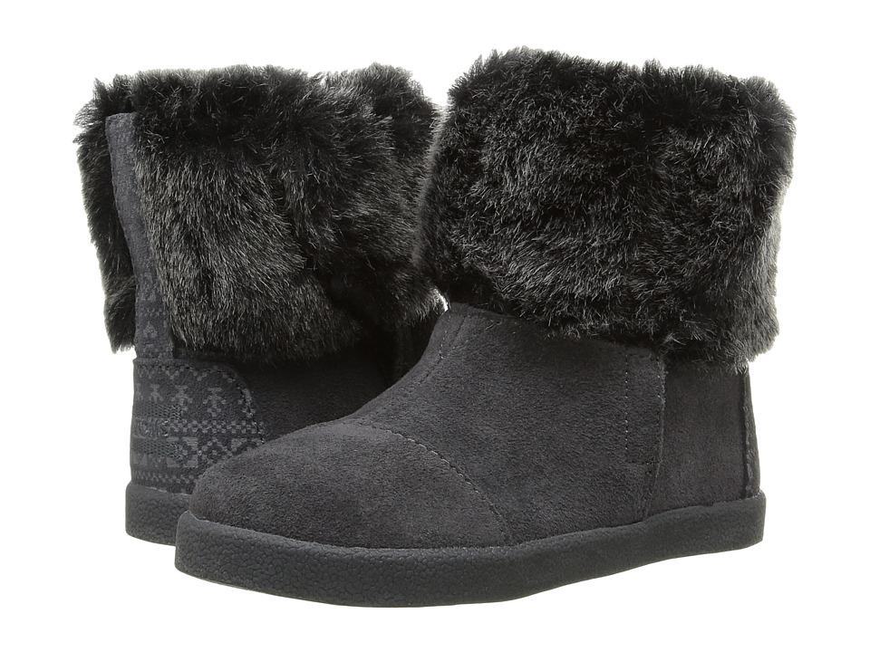TOMS Kids - Nepal Boot (Infant/Toddler/Little Kid) (Castlerock Grey Suede/Faux Fur) Girls Shoes