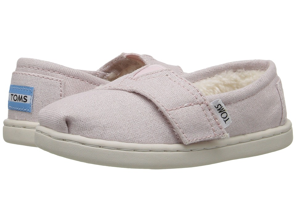 TOMS Kids - Seasonal Classics (Infant/Toddler/Little Kid) (Pink Metallic Woven/Shearling) Girls Shoes