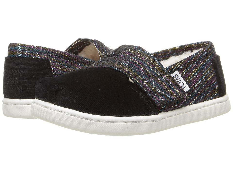 TOMS Kids - Seasonal Classics (Infant/Toddler/Little Kid) (Black Metallic/Velvet) Girls Shoes