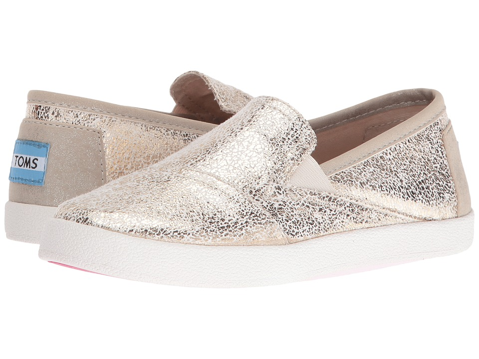 TOMS Kids - Avalon Slip-On (Little Kid/Big Kid) (Gold Metallic Foil) Girls Shoes