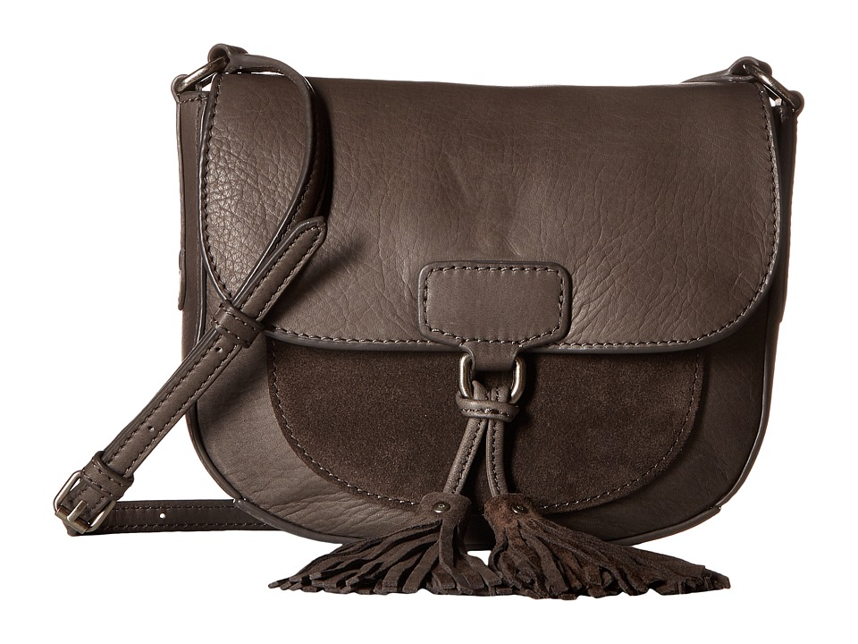 Frye - Clara Saddle (Smoke Soft Vintage Leather/Suede) Handbags