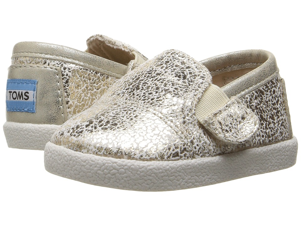 TOMS Kids - Avalon Slip-On (Infant/Toddler/Little Kid) (Gold Metallic Foil) Girls Shoes