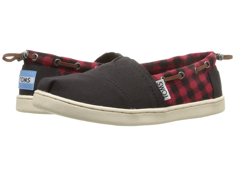 TOMS Kids - Bimini Espadrille (Little Kid/Big Kid) (Red/Black Plaid) Boys Shoes