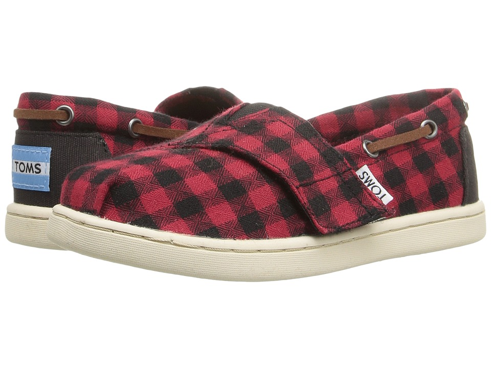 TOMS Kids - Bimini Espadrille (Infant/Toddler/Little Kid) (Red/Black Plaid) Boys Shoes