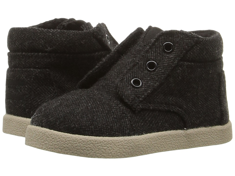 TOMS Kids - Paseo High Sneaker (Infant/Toddler/Little Kid) (Grey Wool Herringbone) Boys Shoes