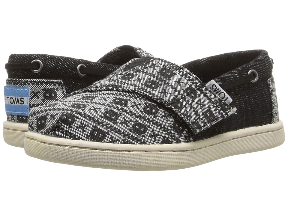 TOMS Kids - Bimini Espadrille (Infant/Toddler/Little Kid) (Black Denim/Chambray Skulls) Boys Shoes