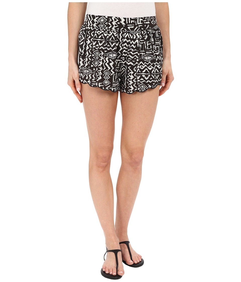 Billabong - Beyond Sunrise Elastic Shorts (Off-Black) Women's Shorts