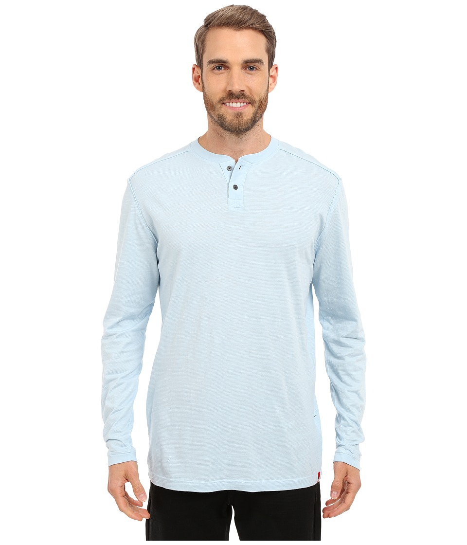 Agave Denim Kilchis Long Sleeve Henley (Cool Blue) Men