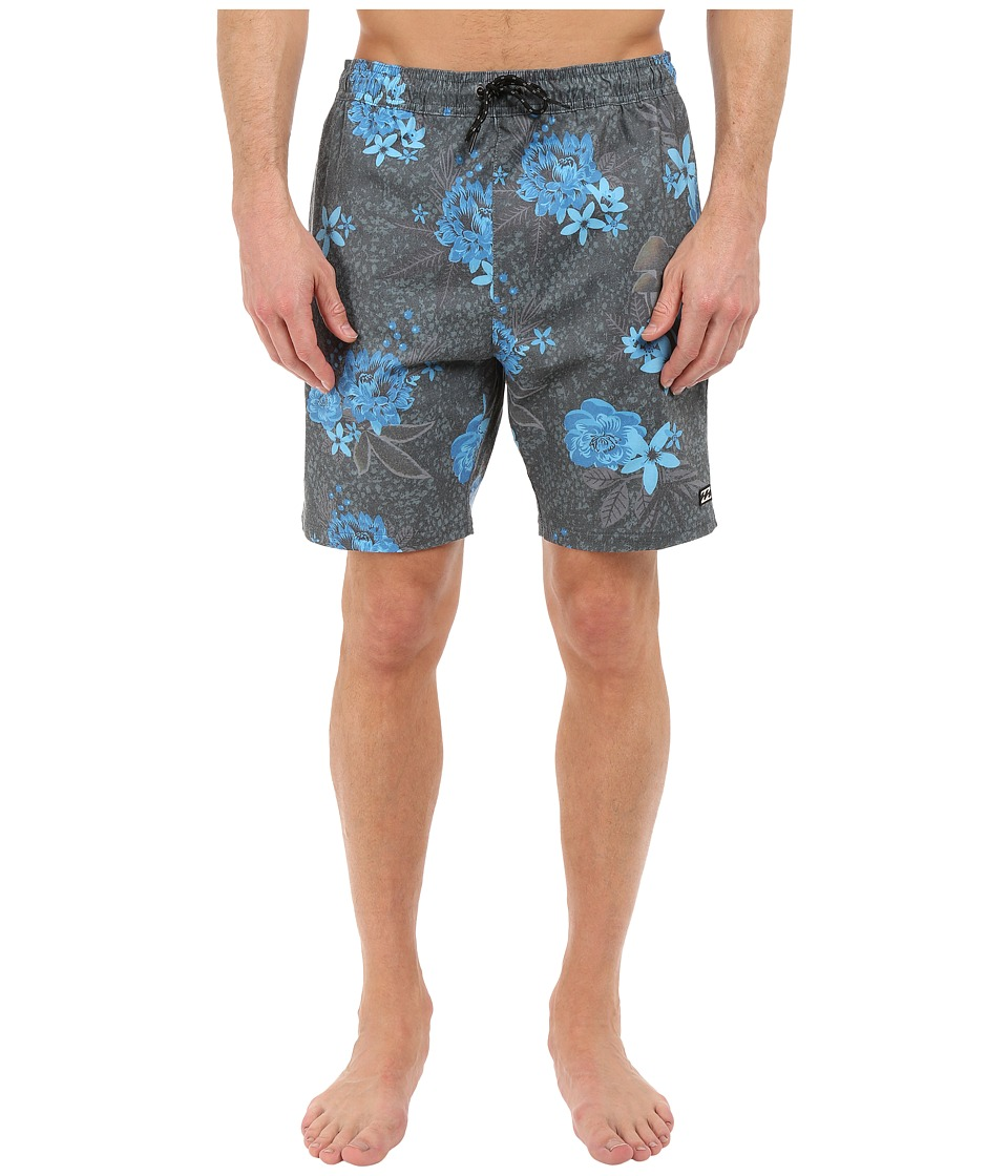 Billabong - All Day Print Layback Shorts (Indigo) Men's Swimwear