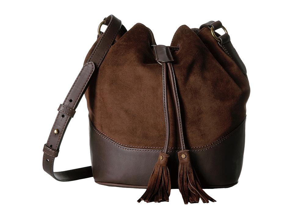 Frye - Paige Drawstring (Dark Brown) Drawstring Handbags