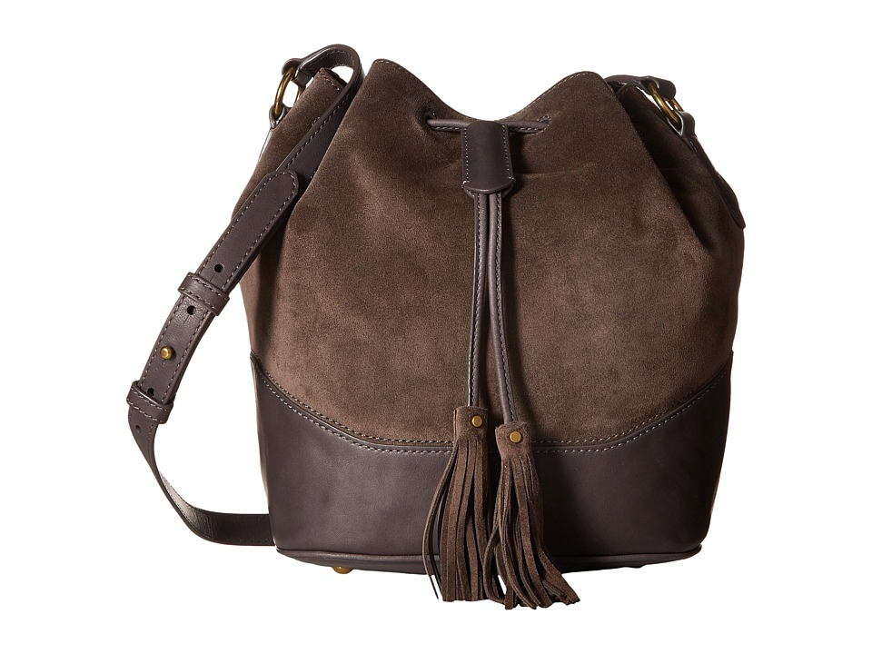 Frye - Paige Drawstring (Smoke) Drawstring Handbags