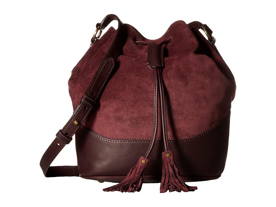 Frye - Paige Drawstring (Wine) Drawstring Handbags