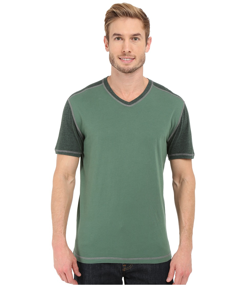 Agave Denim - Rubicon Baseball V-Neck Short Sleeve (Silver Pine) Men's Short Sleeve Pullover