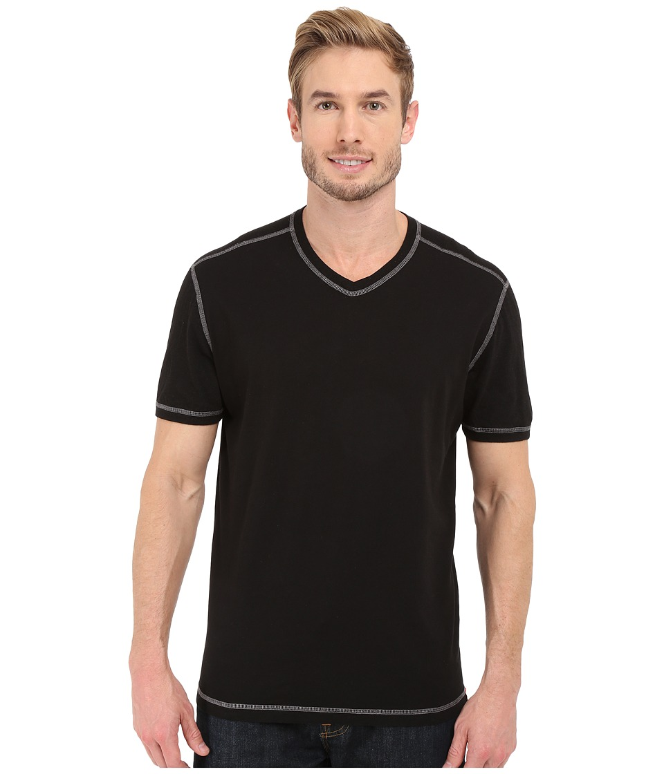 Agave Denim - Rubicon Baseball V-Neck Short Sleeve (Anthracite) Men's Short Sleeve Pullover