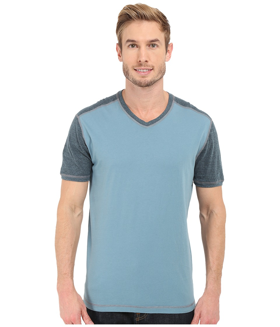 Agave Denim - Rubicon Baseball V-Neck Short Sleeve (Citadel) Men's Short Sleeve Pullover