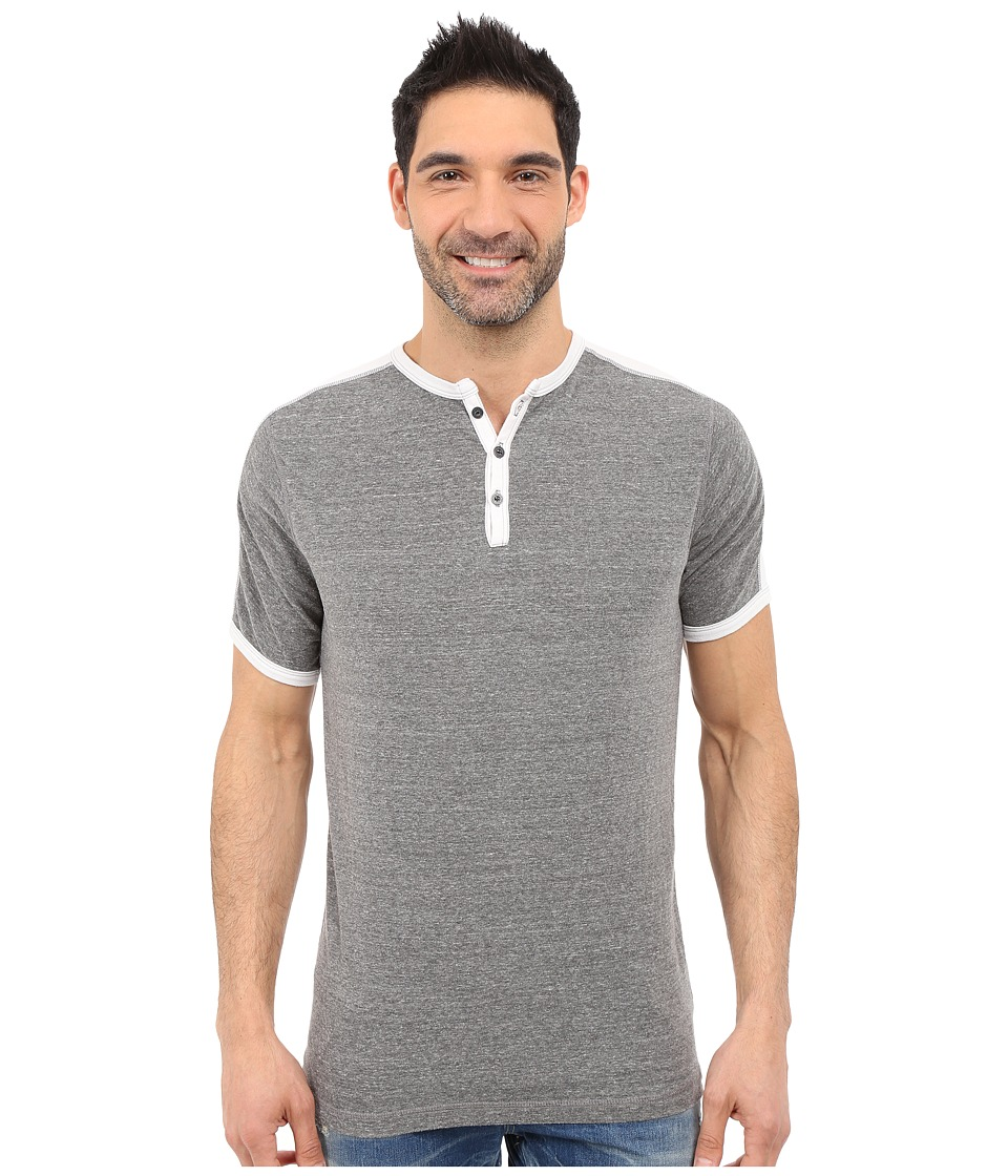 Agave Denim - Flemming Henley Short Sleeve (Cloud Dancer) Men's Short Sleeve Pullover