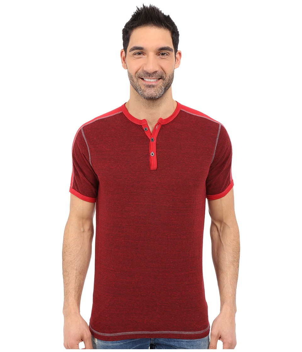 Agave Denim - Flemming Henley Short Sleeve (Salsa) Men's Short Sleeve Pullover