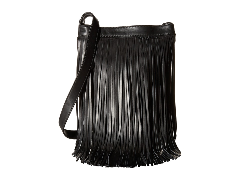 Frye - Ray Fringe Crossbody (Black) Cross Body Handbags