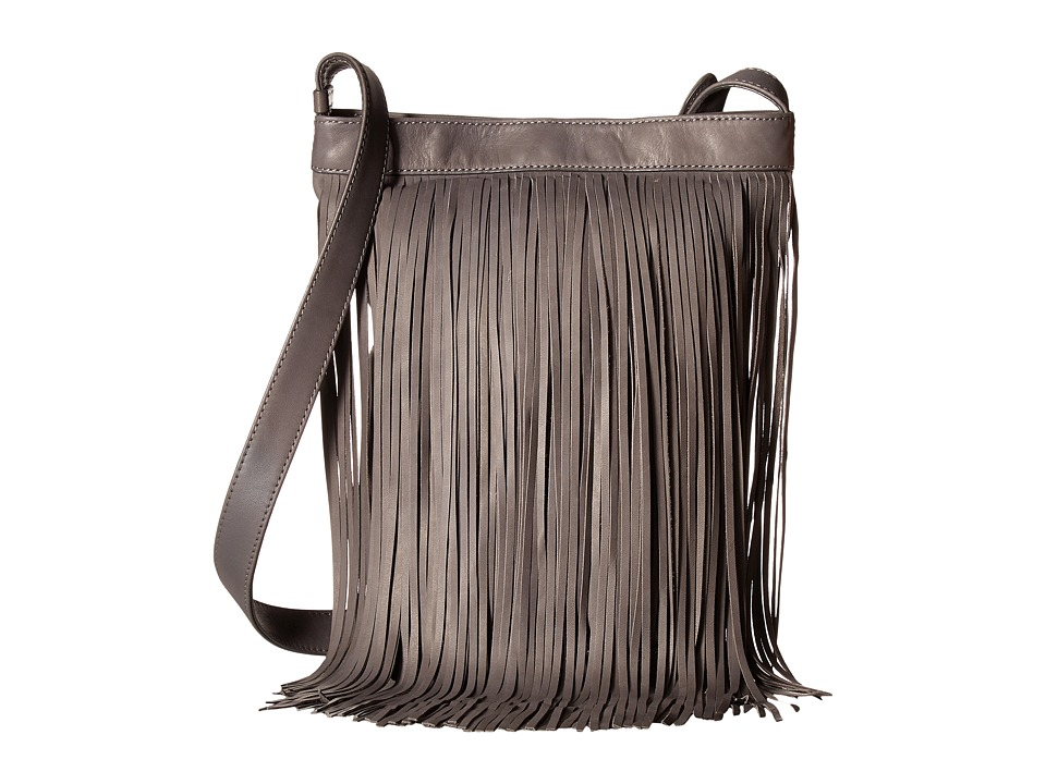 Frye - Ray Fringe Crossbody (Charcoal) Cross Body Handbags