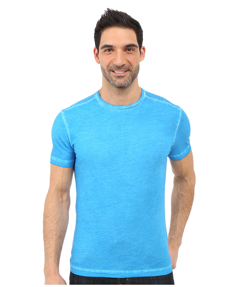 Agave Denim - Jocko Short Sleeve Crew Neck Antique (Mediterranean Blue) Men's Short Sleeve Pullover