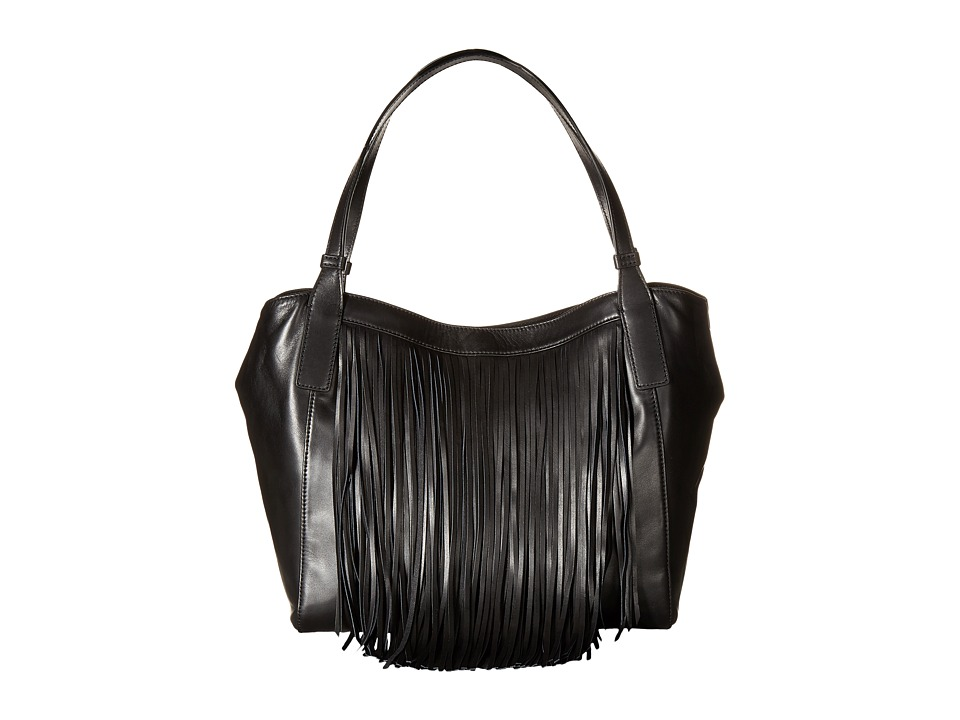 Frye - Ray Fringe Shoulder (Black) Shoulder Handbags