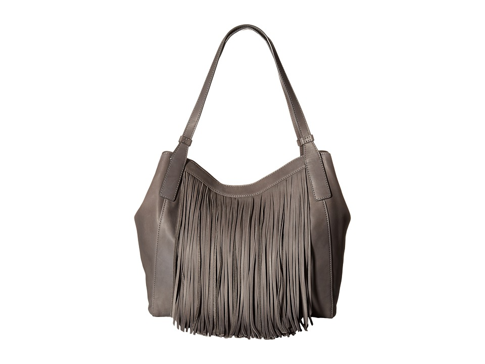 Frye - Ray Fringe Shoulder (Charcoal) Shoulder Handbags