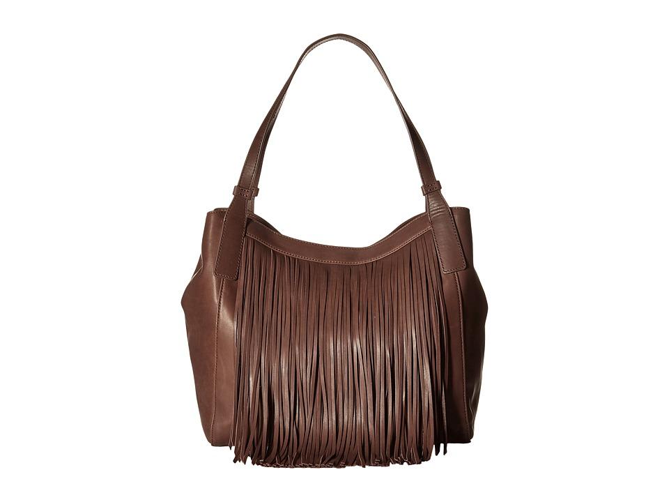 Frye - Ray Fringe Shoulder (Dark Brown) Shoulder Handbags