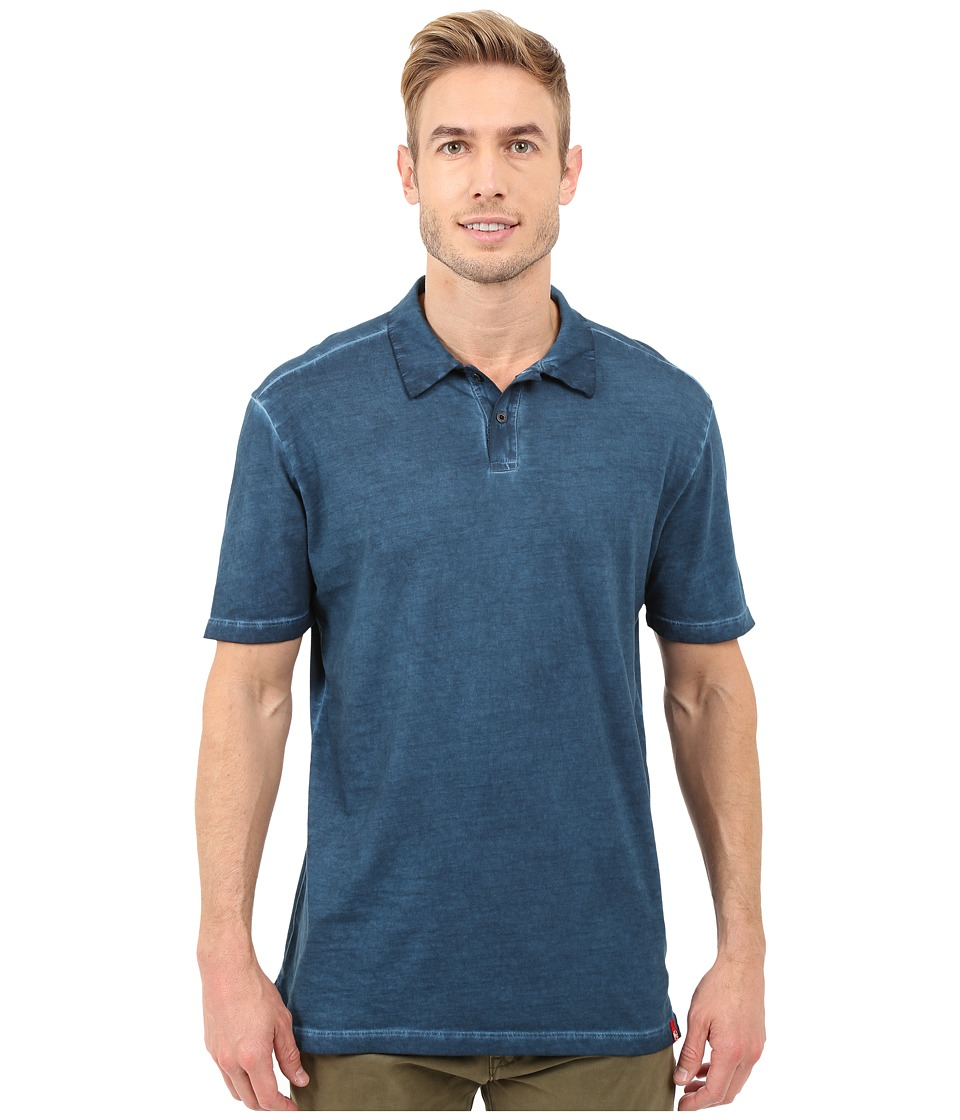 Agave Denim - Rafferty Short Sleeve Polo Antique (Blue Wing Teal) Men's Short Sleeve Knit
