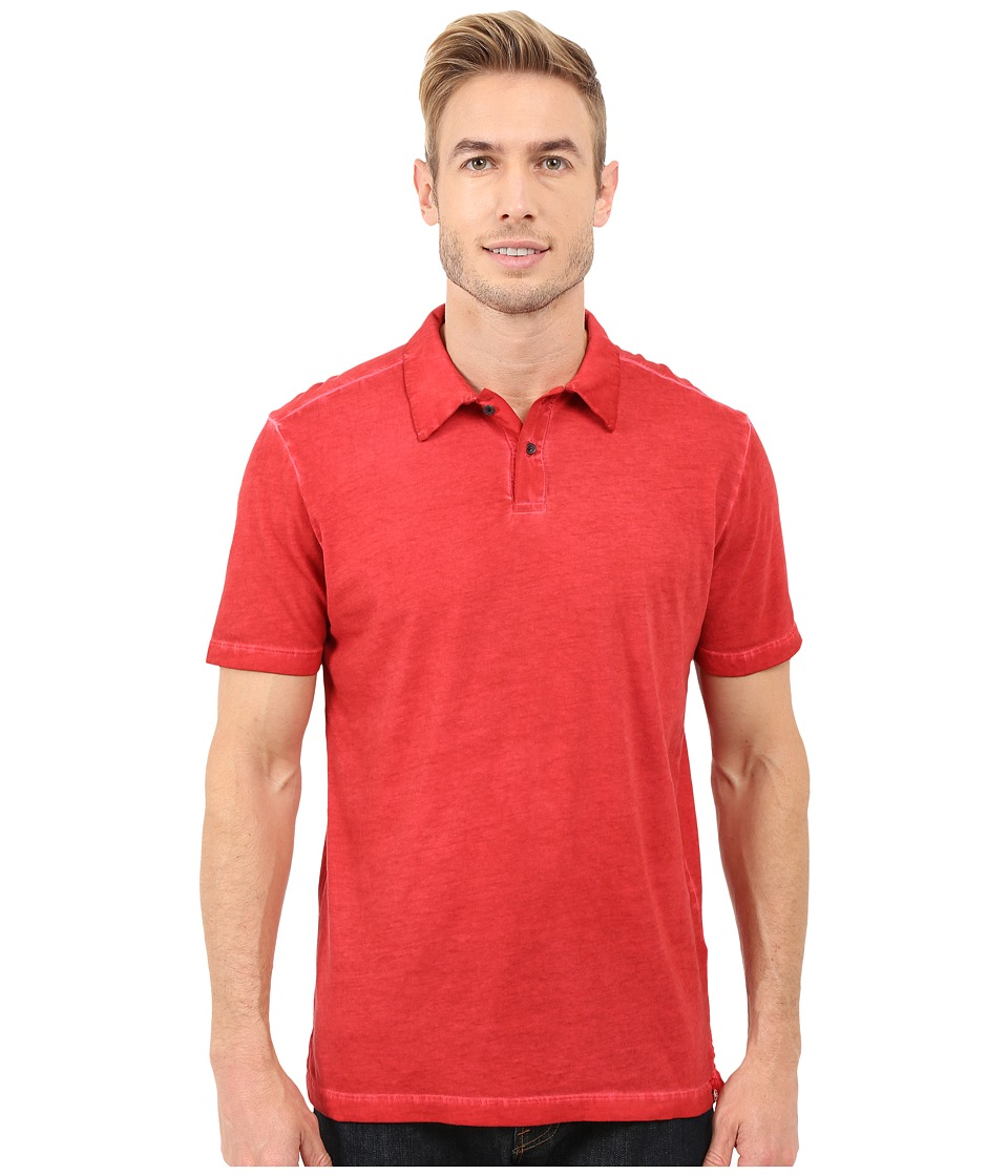Agave Denim - Rafferty Short Sleeve Polo Antique (Salsa) Men's Short Sleeve Knit