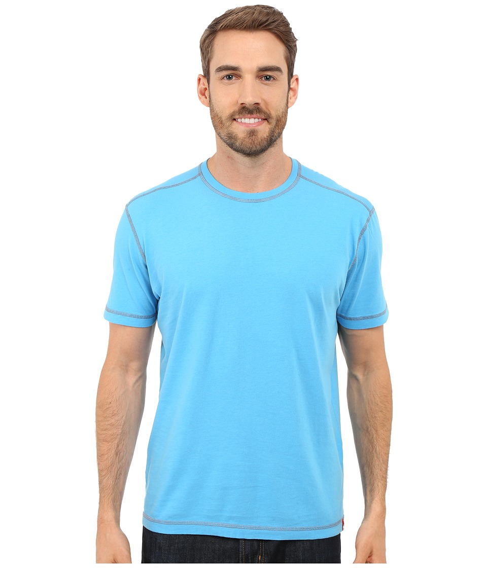 Agave Denim - Whiskey Short Sleeve Crew (Mediterranean Blue) Men's Clothing