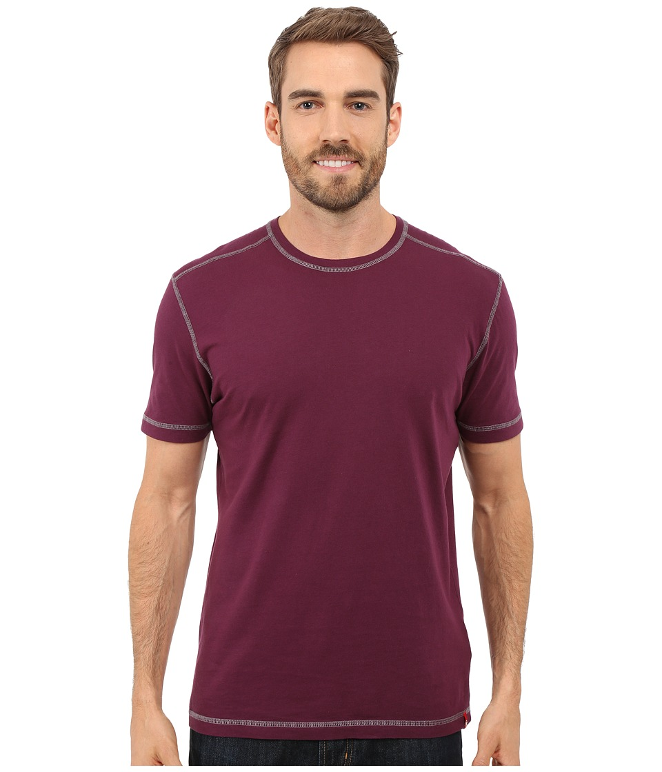 Agave Denim - Whiskey Short Sleeve Crew (Prune Purple) Men's Clothing