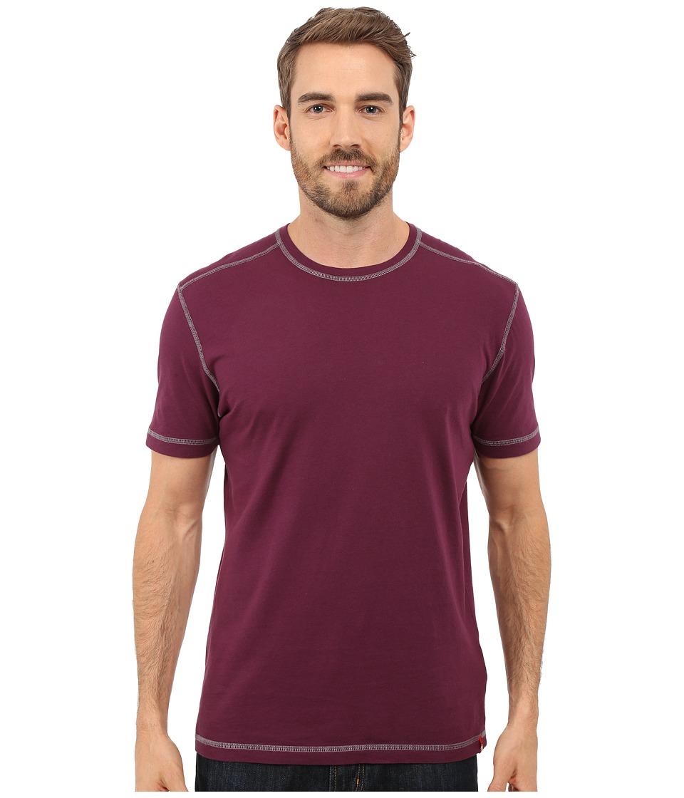 Agave Denim - Whiskey Short Sleeve Crew (Prune Purple) Men's Clothing